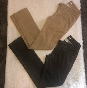 Lot of 2 Banana Republic Corduroy Skinny Fit Pants